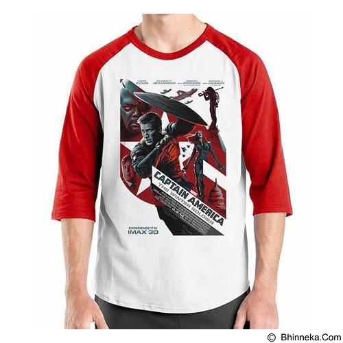 ORDINAL Raglan Captain America Poster 01 Size M (Merchant) - Kaos Pria