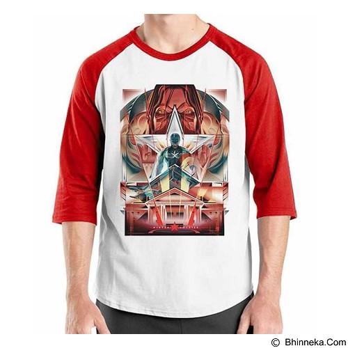 ORDINAL Raglan Captain America Poster 02 Size ML (Merchant) - Kaos Pria
