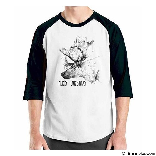 ORDINAL Raglan Christmas Deer 06 Size ML (Merchant) - Kaos Pria