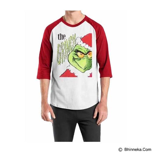 ORDINAL Raglan Christmas Grinch 05 Size S (Merchant) - Kaos Pria
