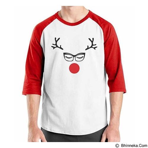 ORDINAL Raglan Christmas Lady Deer Size XXL (Merchant) - Kaos Pria
