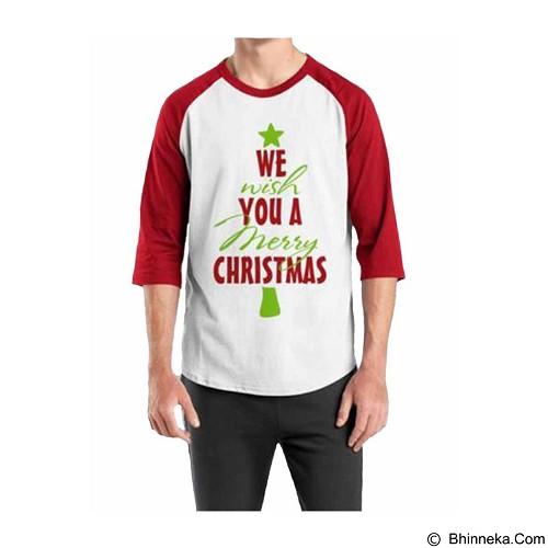ORDINAL Raglan Christmas Quotes 01 Size ML (Merchant) - Kaos Pria