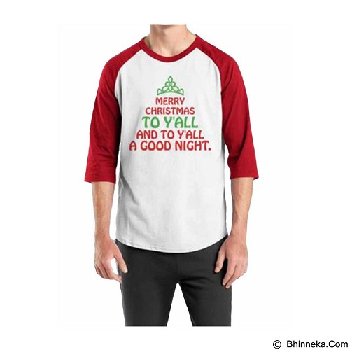 ORDINAL Raglan Christmas Quotes 02 Size S (Merchant) - Kaos Pria