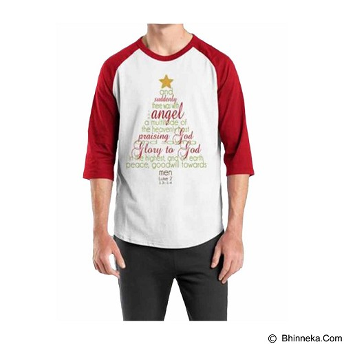 ORDINAL Raglan Christmas Quotes 03 Size XL (Merchant) - Kaos Pria
