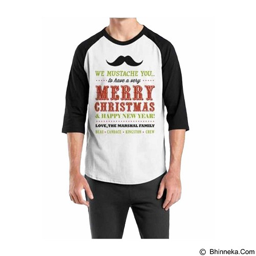 ORDINAL Raglan Christmas Quotes 06 Size S (Merchant) - Kaos Pria