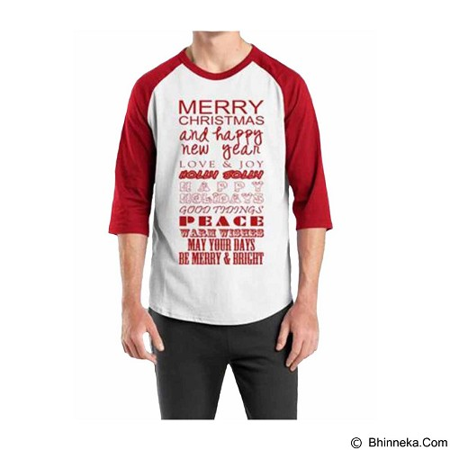 ORDINAL Raglan Christmas Quotes 07 Size XXL (Merchant) - Kaos Pria