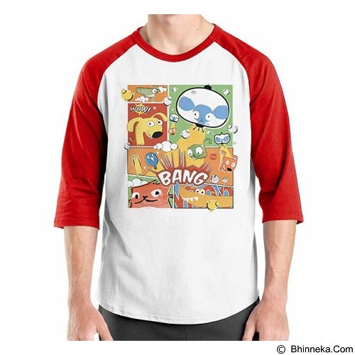 ORDINAL Raglan Comic Book 04 Size XL (Merchant) - Kaos Pria