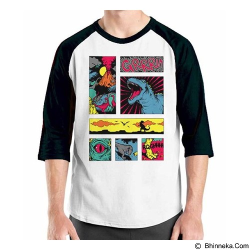 ORDINAL Raglan Comic Book 05 Size XL (Merchant) - Kaos Pria