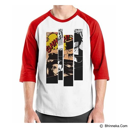 ORDINAL Raglan Comic Book 08 Size S (Merchant) - Kaos Pria