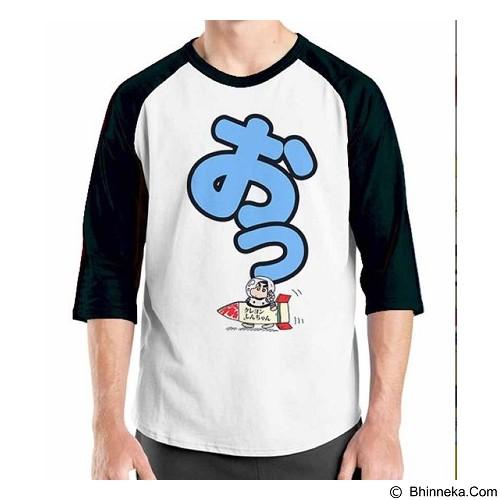 ORDINAL Raglan Crayon Shinchan 03 Size M (Merchant) - Kaos Pria