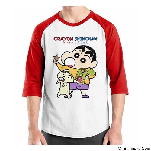 ORDINAL Raglan Crayon Shinchan 04 Size XXL (Merchant) - Kaos Pria