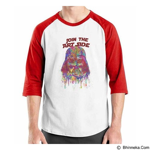ORDINAL Raglan Darth Vader Art Side Size S (Merchant) - Kaos Pria