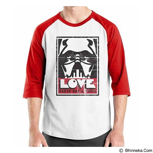 ORDINAL Raglan Darth Vader Darth Poster Size S (Merchant) - Kaos Pria