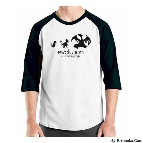 ORDINAL Raglan Digimon Evolution Size XXL (Merchant) - Kaos Pria