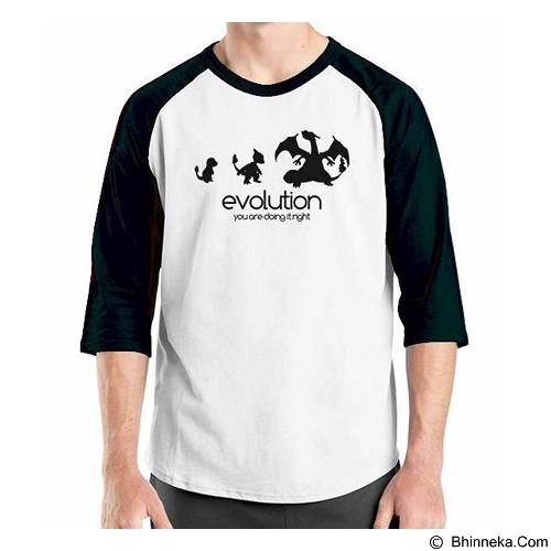 ORDINAL Raglan Digimon Evolution Size XXL (Merchant) - Kaos Pria