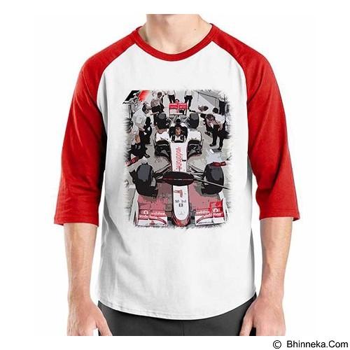 ORDINAL Raglan F1 Series Pit Stop 02 Size L (Merchant) - Kaos Pria