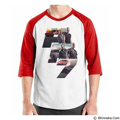 ORDINAL Raglan Fast and Furious 7 01 Size M (Merchant) - Kaos Pria