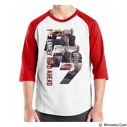 ORDINAL Raglan Fast and Furious 7 08 Size S (Merchant) - Kaos Pria