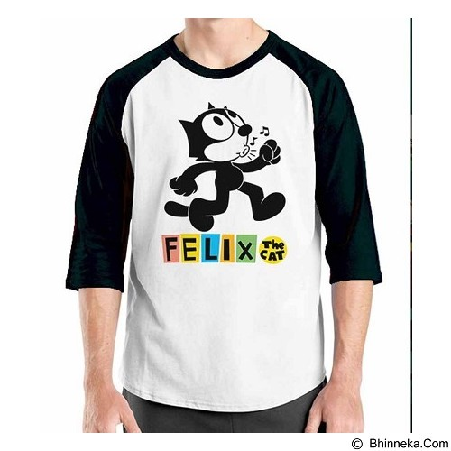 ORDINAL Raglan Felix The Cat Size XXL (Merchant) - Kaos Pria