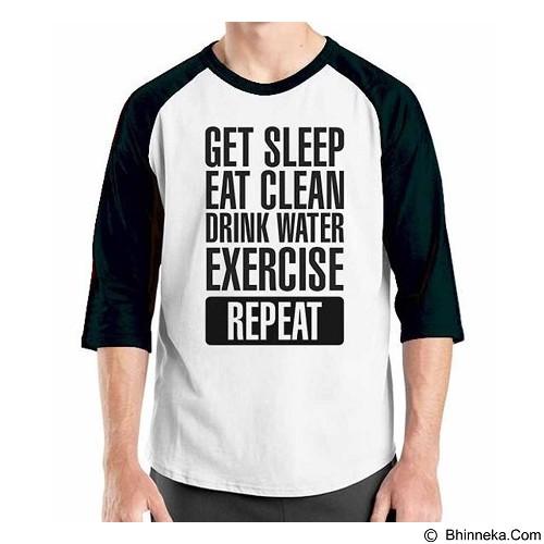 ORDINAL Raglan Fitness Repeat Size M (Merchant) - Kaos Pria
