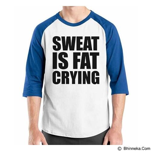 ORDINAL Raglan Fitness Sweet Is Fat Crying Size ML (Merchant) - Kaos Pria