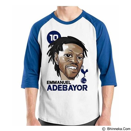 ORDINAL Raglan Football Player Adebayor Size XL (Merchant) - Kaos Pria