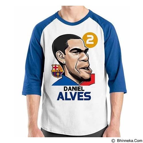ORDINAL Raglan Football Player Alves Size ML (Merchant) - Kaos Pria