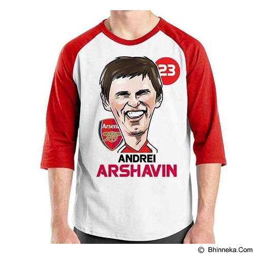 ORDINAL Raglan Football Player Arshavin Size XXL (Merchant) - Kaos Pria