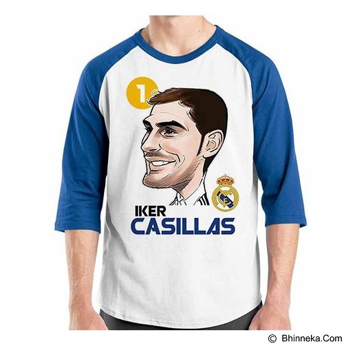 ORDINAL Raglan Football Player Cassilas Size S (Merchant) - Kaos Pria