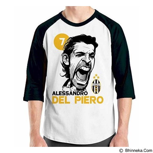 ORDINAL Raglan Football Player Del Piero Size ML (Merchant) - Kaos Pria