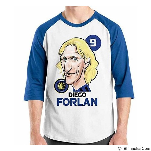 ORDINAL Raglan Football Player Forlan Size M (Merchant) - Kaos Pria