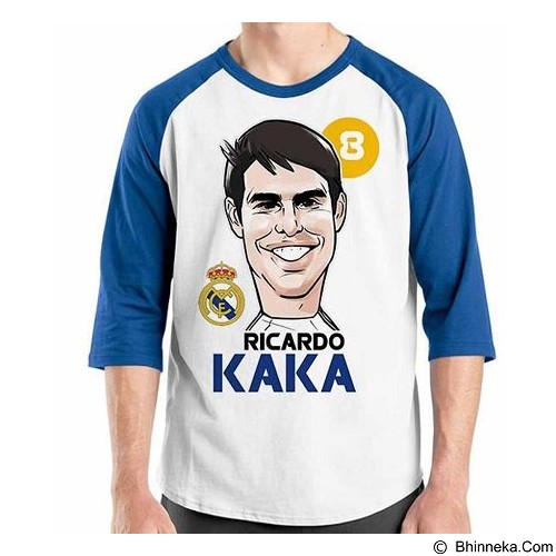 ORDINAL Raglan Football Player Kaka Size XL (Merchant) - Kaos Pria