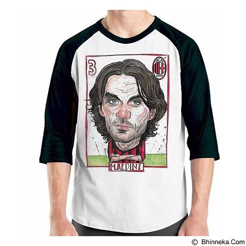 ORDINAL Raglan Football Player Maldini Size ML (Merchant) - Kaos Pria