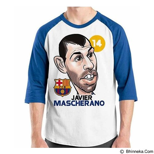 ORDINAL Raglan Football Player Mascherano Size XL (Merchant) - Kaos Pria