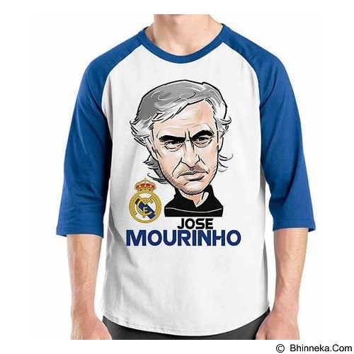 ORDINAL Raglan Football Player Maurinho Size XL (Merchant) - Kaos Pria