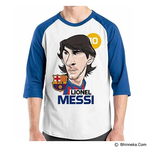 ORDINAL Raglan Football Player Messi 01 Size XXL (Merchant) - Kaos Pria