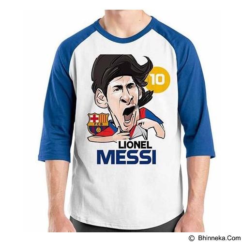 ORDINAL Raglan Football Player Messi 02 Size L (Merchant) - Kaos Pria