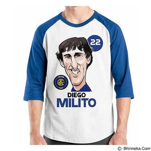 ORDINAL Raglan Football Player Milito Size XXL (Merchant) - Kaos Pria