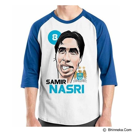 ORDINAL Raglan Football Player Nasri Size M (Merchant) - Kaos Pria