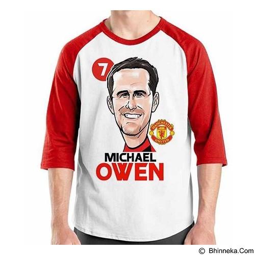 ORDINAL Raglan Football Player Owen  Size S (Merchant) - Kaos Pria