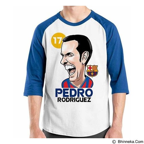 ORDINAL Raglan Football Player Pedro Size S (Merchant) - Kaos Pria