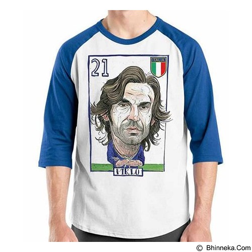 ORDINAL Raglan Football Player Pirlo Size L (Merchant) - Kaos Pria