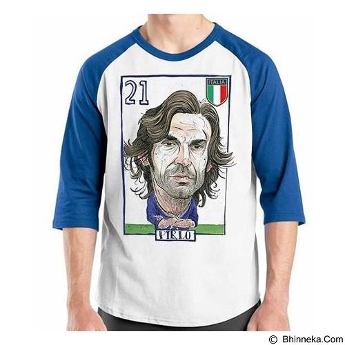 ORDINAL Raglan Football Player Pirlo Size XL (Merchant) - Kaos Pria