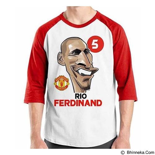 ORDINAL Raglan Football Player Rio Ferdinand  Size XXL (Merchant) - Kaos Pria