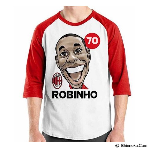 ORDINAL Raglan Football Player Robinho Size L (Merchant) - Kaos Pria
