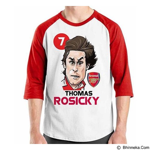 ORDINAL Raglan Football Player Rosicky 02 Size L (Merchant) - Kaos Pria