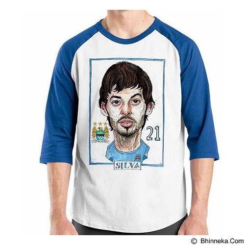 ORDINAL Raglan Football Player Silva Size M (Merchant) - Kaos Pria