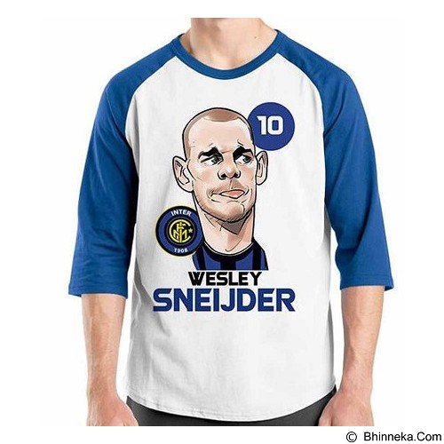 ORDINAL Raglan Football Player Sneijder Size S (Merchant) - Kaos Pria