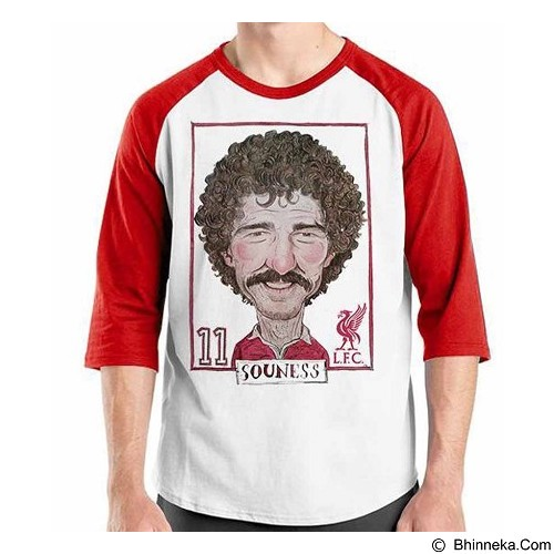 ORDINAL Raglan Football Player Souness Size XL (Merchant) - Kaos Pria