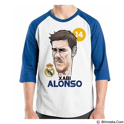 ORDINAL Raglan Football Player Xabi Alonso Size L (Merchant) - Kaos Pria